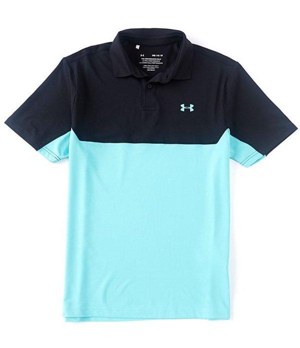 アンダーアーマー メンズ シャツ トップス Golf Short-Sleeve UA Performance 2.0 Colorblock Polo 002 Black