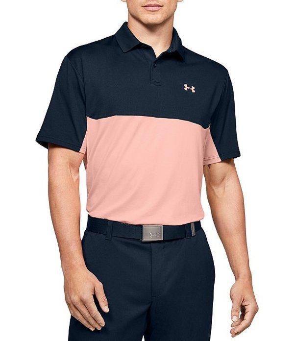 アンダーアーマー メンズ シャツ トップス Golf Short-Sleeve UA Performance 2.0 Colorblock Polo 410 Academy