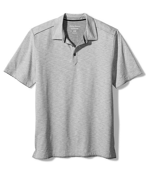 トッミーバハマ メンズ シャツ トップス Fray Day Harbor Short-Sleeve Polo Shirt Bala Shark