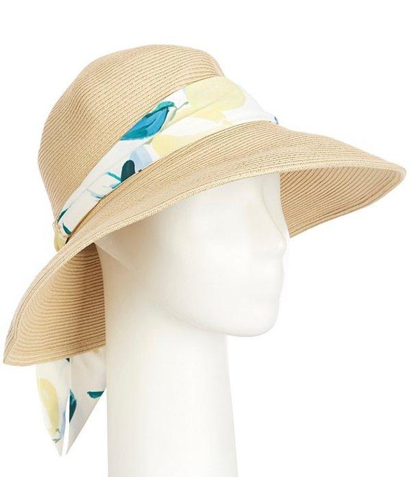 ジュールズ レディース 帽子 アクセサリー Violet Natural Paper Cloche Hat with Scarf Lemon Tree