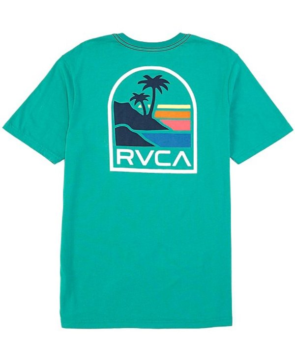 ルーカ メンズ シャツ トップス Regular Fit Short-Sleeve Vista Graphic T-Shirt Vintage Green