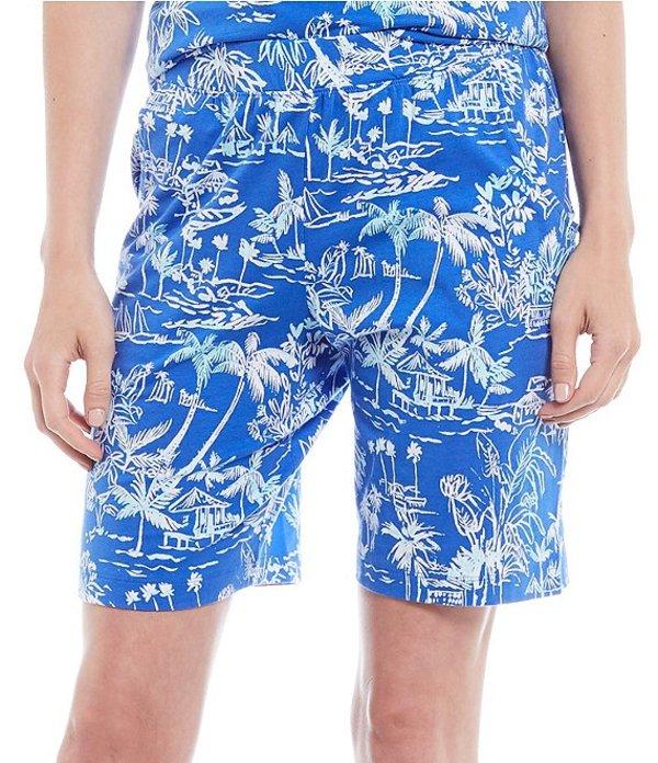 スリープ センス レディース ハーフパンツ・ショーツ ボトムス Tropical Holiday Print Jersey Bermuda Sleep Shorts Tropical Blue