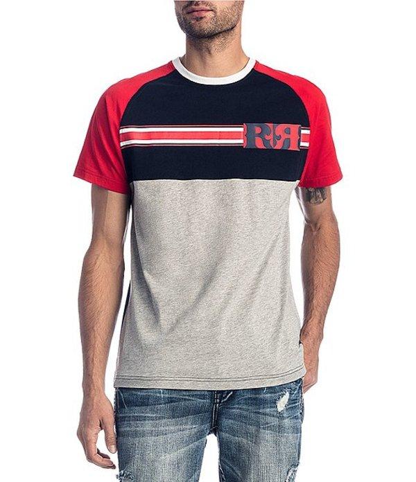 ロックリバイバル メンズ シャツ トップス Back Flag Short-Sleeve T-Shirt Navy Blue