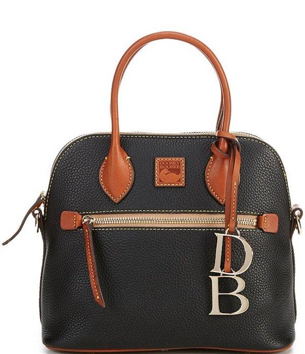 ドーネイアンドバーク レディース ハンドバッグ バッグ Pebble Collection Domed Satchel Bag Black