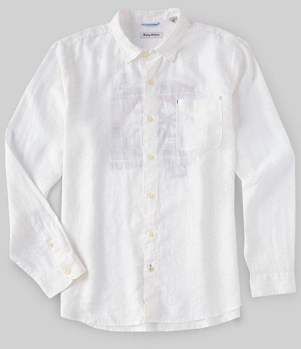 トッミーバハマ メンズ シャツ トップス Big & Tall Passport To Paradise Long-Sleeve Woven Shirt White