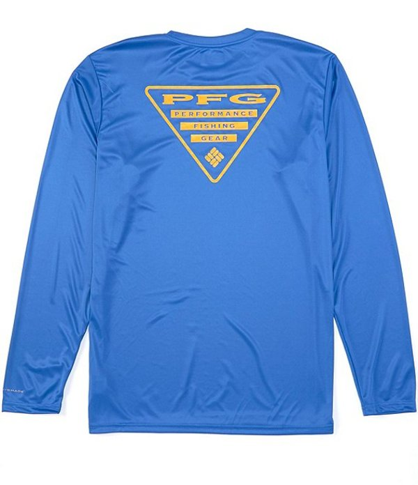 コロンビア メンズ シャツ トップス PFG Terminal Tackle Triangle Logo Long-Sleeve Tee Vivid Blue/Bright Nectar Logo