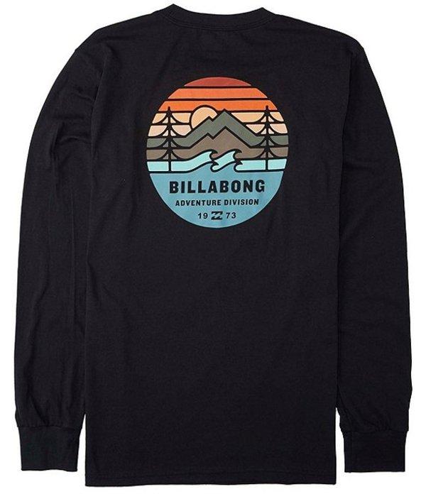 ビラボン メンズ シャツ トップス Long-Sleeve Twin Pines Graphic T-Shirt Black