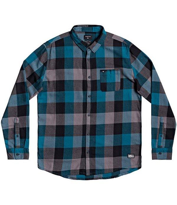 クイックシルバー メンズ シャツ トップス Motherfly Flannel Long-Sleeve Woven Shirt Blue Corral