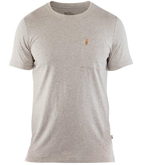 フェールラーベン メンズ シャツ トップス Ovik Pocket Short-Sleeve Organic Cotton Tee Grey