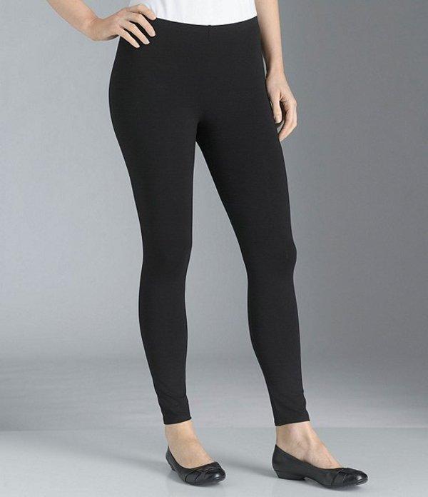 エイリーンフィッシャー レディース カジュアルパンツ ボトムス Petite Essentials Jersey Ankle Leggings Black