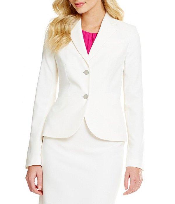 カルバンクライン レディース ジャケット・ブルゾン アウター Two-Button Suit Jacket Cream