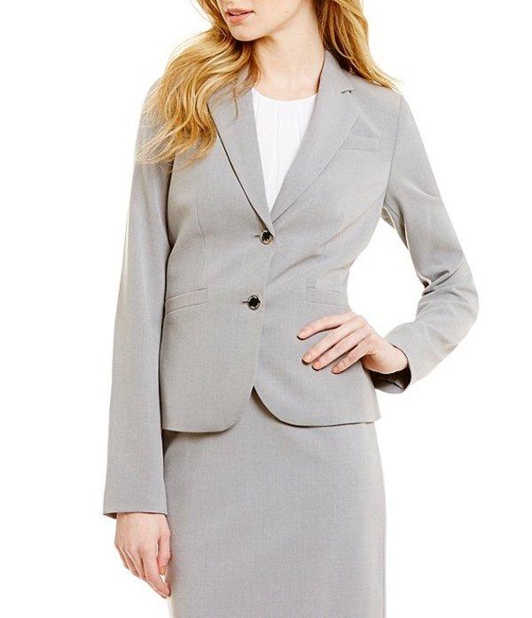 カルバンクライン レディース ジャケット・ブルゾン アウター Two-Button Suit Jacket Tin