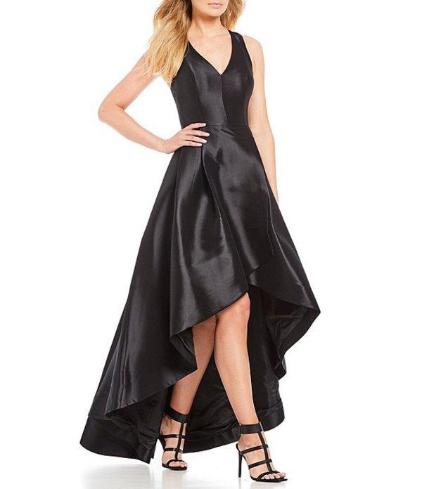 カルバンクライン レディース ワンピース トップス Taffeta Tulip Hi-Low Dress Black