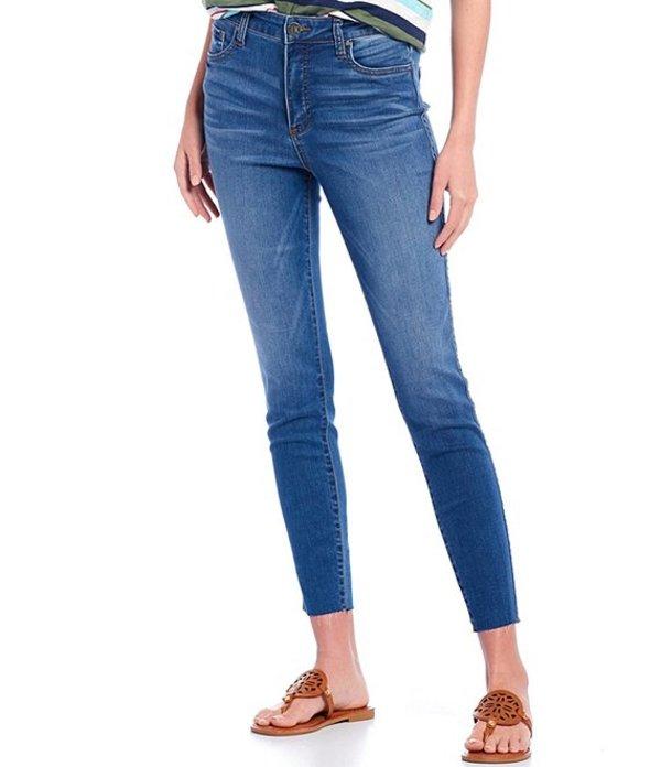 カットフロムザクロス レディース デニムパンツ ボトムス Connie High Rise Fab Ab Fit Technique Raw Hem Skinny Jeans Done