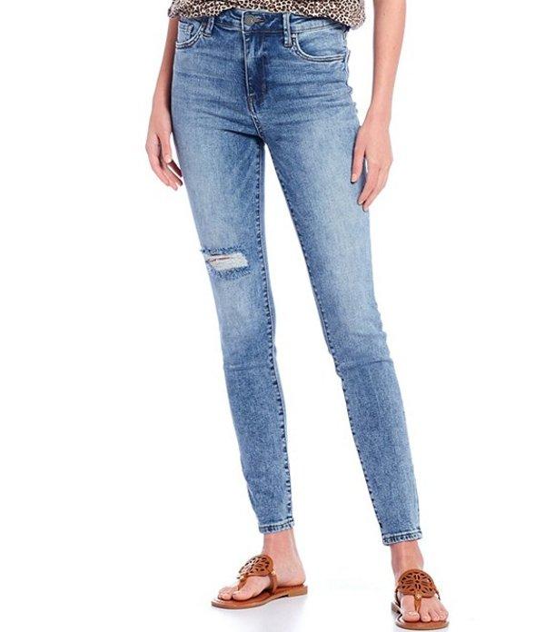 カットフロムザクロス レディース デニムパンツ ボトムス Mia High Rise Toothpick Slight Destruction Detail Skinny Jeans Fleeting