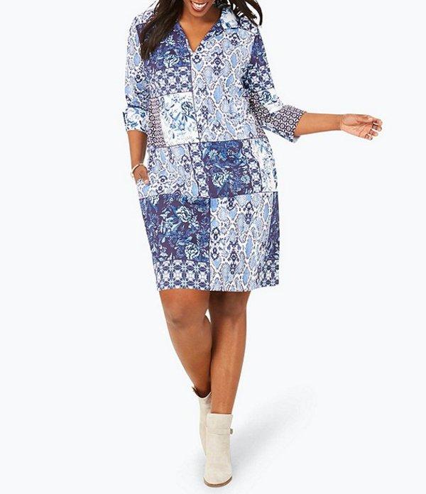 フォックスクラフト レディース ワンピース トップス Plus Size Esme All Mixed Up Printed Dress Multi