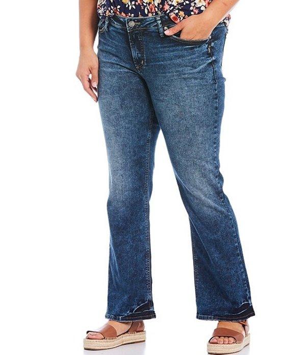 シルバー ジーンズ レディース デニムパンツ ボトムス Plus Size Elyse Slim Bootcut Jeans Indigo
