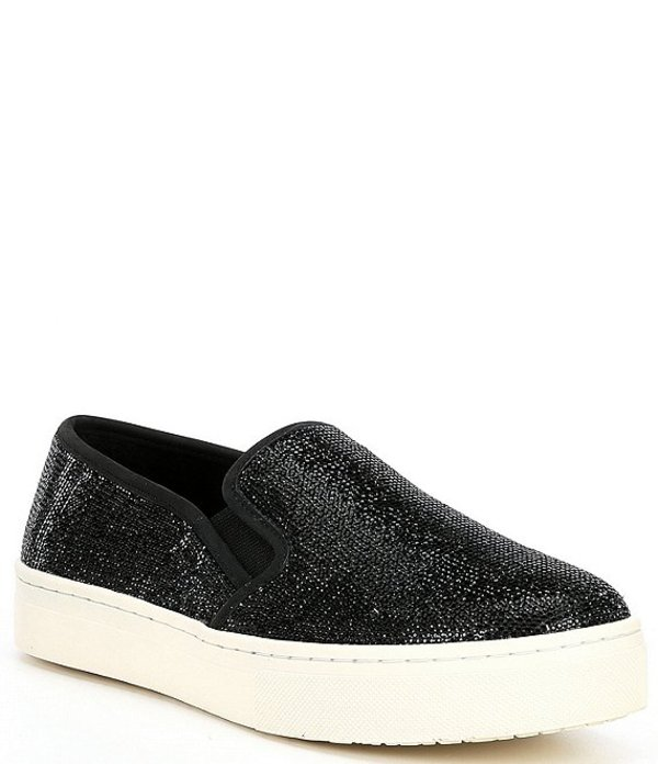 ジービー レディース スニーカー シューズ Cool-Kat Rhinestone Slip On Sneakers Black