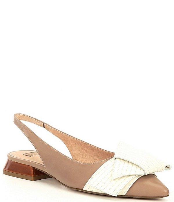 ルイスエシー レディース ヒール シューズ Louise Et Cie Cerelia Leather Quilted Bow Flare Heel Detail Slingback Flats Barely/Bone