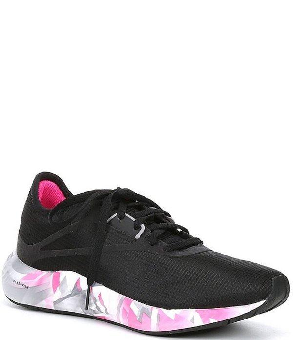 リーボック レディース スニーカー シューズ Women's Flashfilm 3.0 Running Shoes Black/Cold Grey 7/Proud Pink