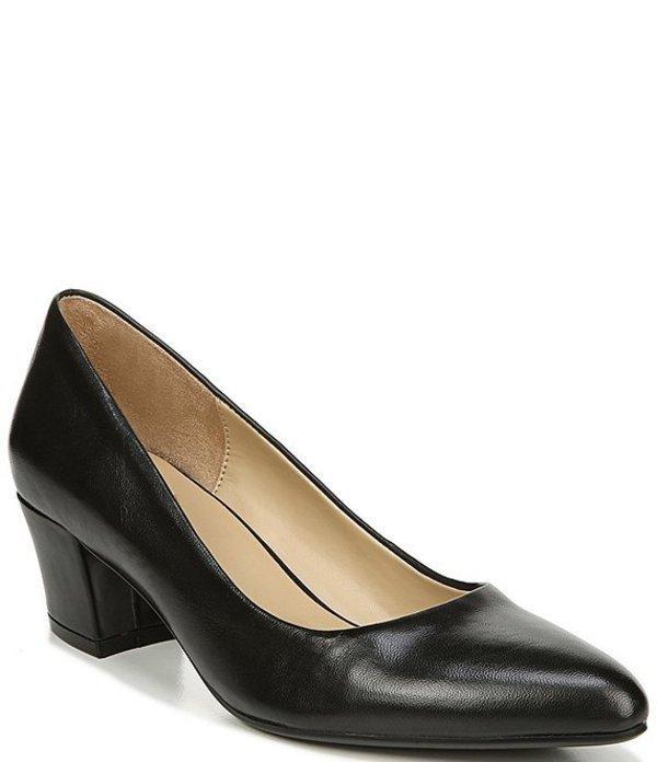 ナチュライザー レディース ヒール シューズ Carmen Leather Pumps Black Leather