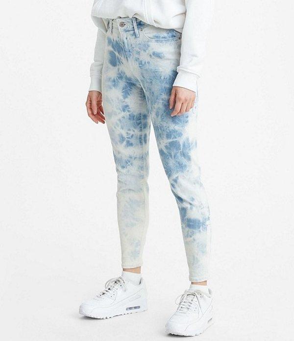 リーバイス レディース デニムパンツ ボトムス Levi'sR 721 High Rise Tie Dye Ankle Skinny Jeans Indigo Earthy Overdye