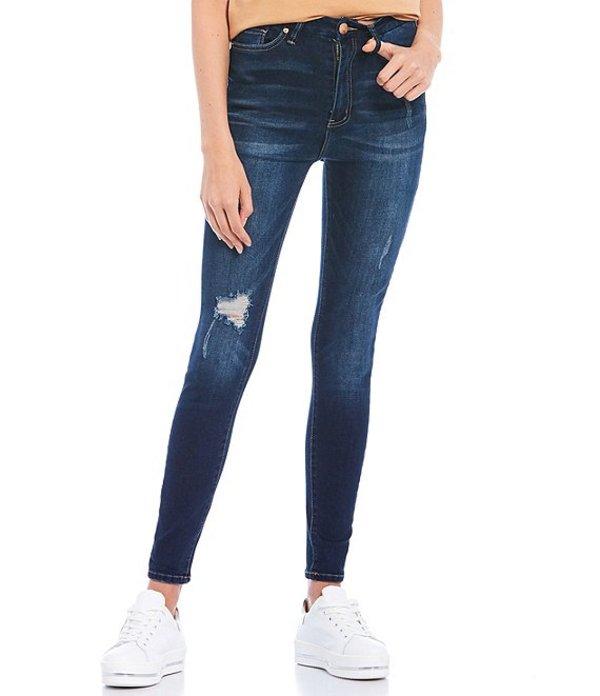 YMIジーンズ レディース デニムパンツ ボトムス High Rise Curvy Fit Skinny Jeans Dark Blue