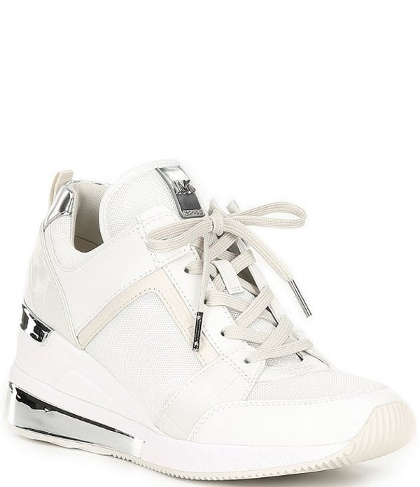 マイケルコース レディース スニーカー シューズ MICHAEL Michael Kors Trainer Extreme Wedge Sneakers White