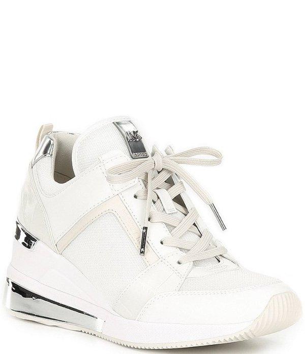 マイケルコース レディース スニーカー シューズ MICHAEL Michael Kors Trainer Extreme Wedge Sneakers White