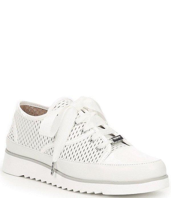 ドナルドプリネール レディース スニーカー シューズ Flipp Perforated Leather Sneakers Bone