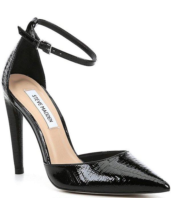 スティーブ マデン レディース ヒール シューズ Alisha Pointed Toe Dress Pumps Black