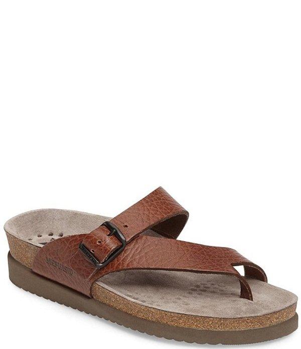 メフィスト レディース サンダル シューズ Helen Buckle Detail Leather Casual Sandals Tan