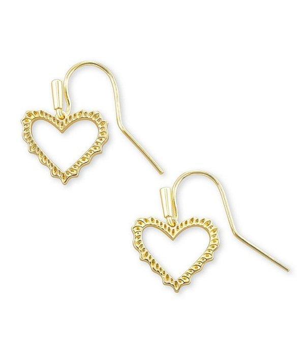 送料無料 サイズ交換無料 返品交換不可 ケンドラスコット レディース アクセサリー ピアス 再入荷 予約販売 イヤリング Drop Sophee Heart Gold Earrings 14k Plated