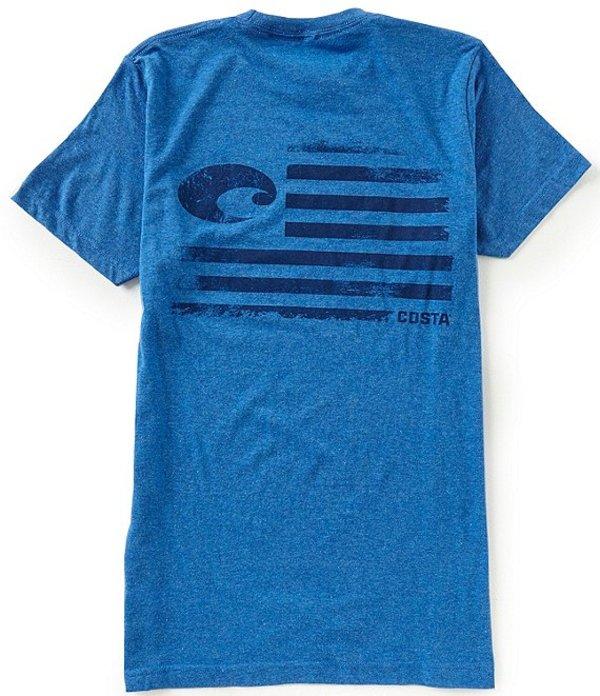 コスタ メンズ シャツ トップス Pride Short-Sleeve Graphic Tee Royal Blue Heather