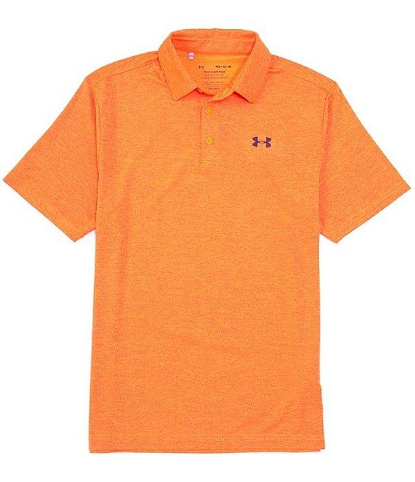 アンダーアーマー メンズ シャツ トップス Golf HeatGearR Short-Sleeve Loose Heathered Playoff Polo 2.0 Orange Spark/Academy