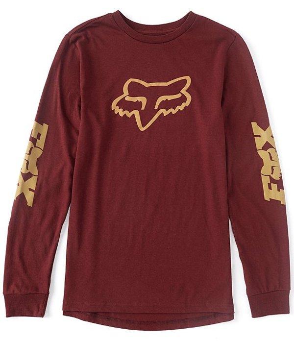 フォックス メンズ シャツ トップス Finisher Long-Sleeve T-Shirt Cranberry