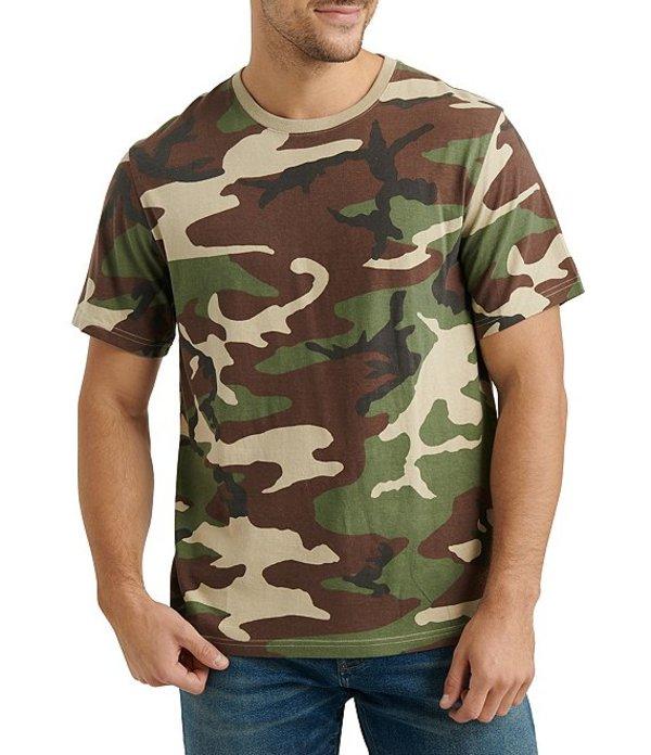 ラッキーブランド メンズ シャツ トップス Short-Sleeve Crew Neck Camo Tee Camo Army