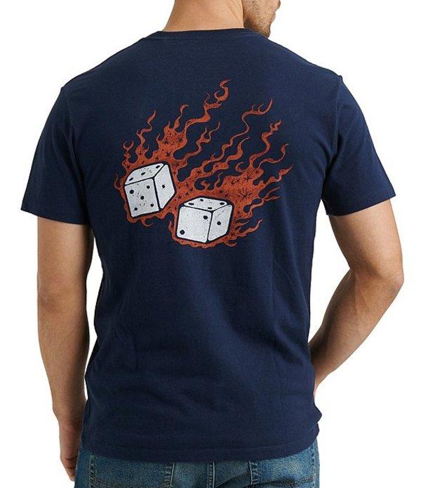 ラッキーブランド メンズ シャツ トップス Lucky Dice Short-Sleeve Graphic T-Shirt American Navy