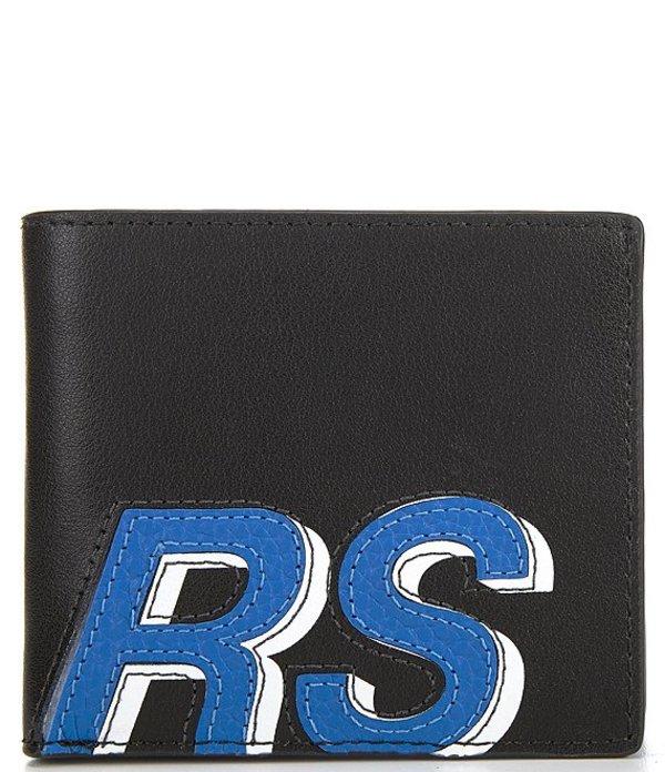 マイケルコース メンズ 財布 アクセサリー Kors Pebble Leather Billfold Wallet Black/Pop Blue