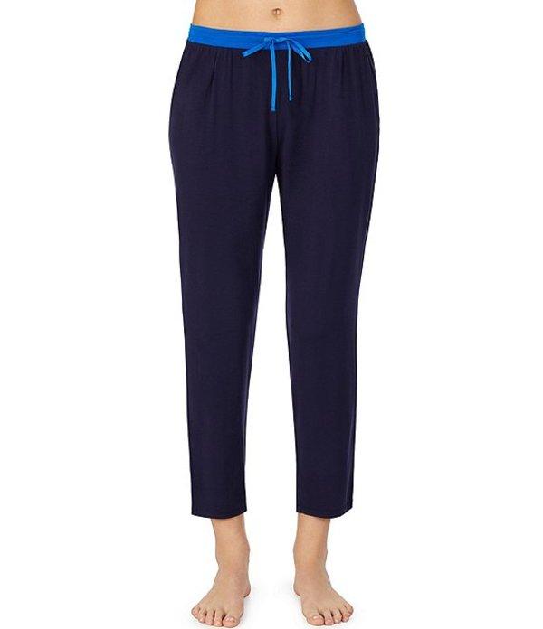 ダナキャラン レディース カジュアルパンツ ボトムス Solid Straight Leg Cropped Jersey Knit Lounge Pants Navy