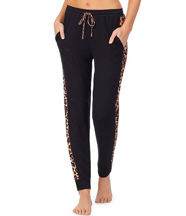 ケンジー レディース カジュアルパンツ ボトムス Animal Trimmed Solid Knit Jogger Sleep Pants Black