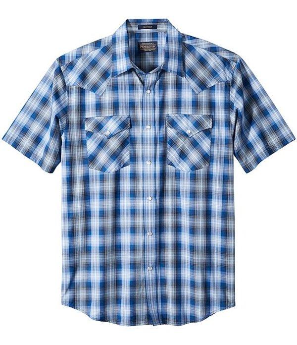 ペンドルトン メンズ シャツ トップス Frontier Short-Sleeve Woven Shirt Blue/Black