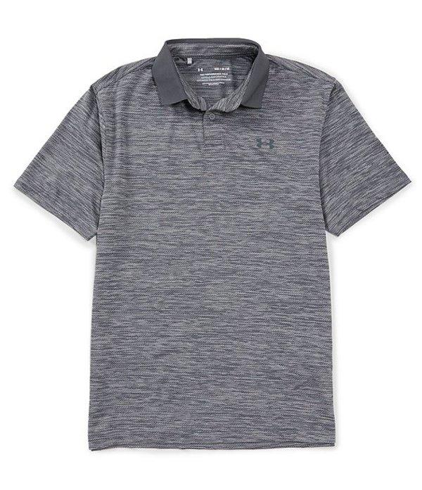 アンダーアーマー メンズ シャツ トップス Loose Golf Short-Sleeve Heathered Performance Polo 2.0 Steel/Pitch Gray