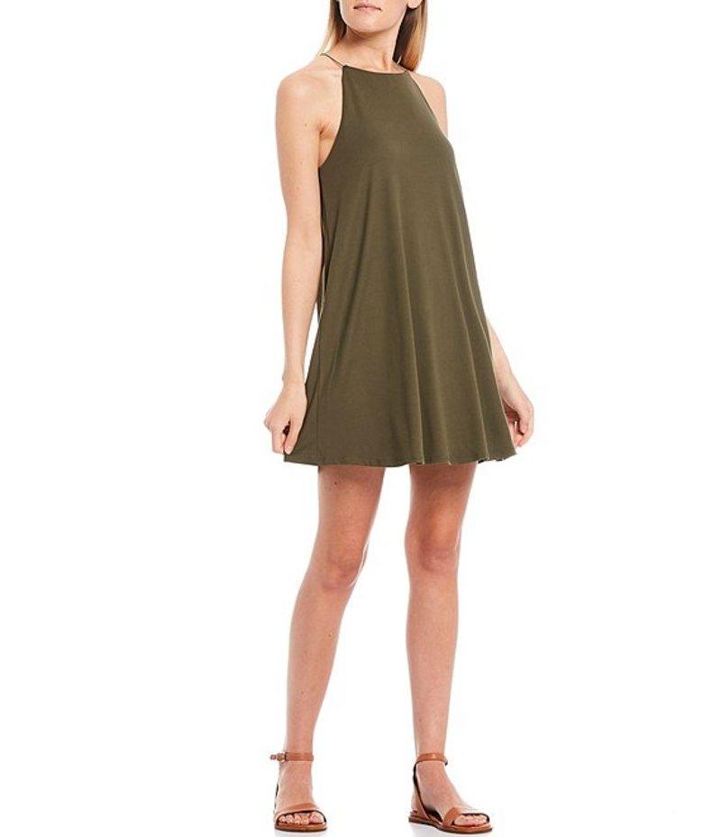 モアモア レディース ワンピース トップス High Neck Trapeze Dress Olive