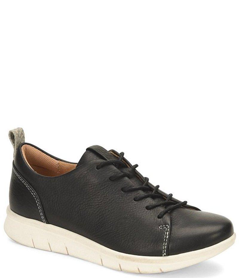 コンフォーティバ レディース スニーカー シューズ Cayson Black Leather Sneakers Black