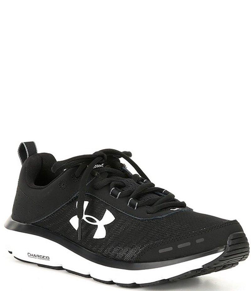 アンダーアーマー メンズ スニーカー シューズ Men's Charged Assert 8 Running Shoes Black/White/White