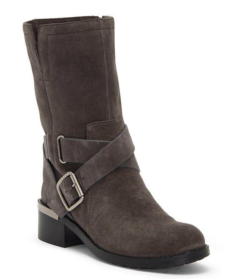 ヴィンスカムート レディース ブーツ・レインブーツ シューズ Wethima Suede Block Heel Moto Boots Dark Slate:ReVida 店