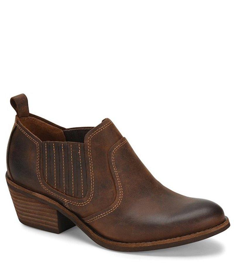ソフト レディース ブーツ・レインブーツ シューズ Adien Leather Pull On Block Heel Bootie Whiskey