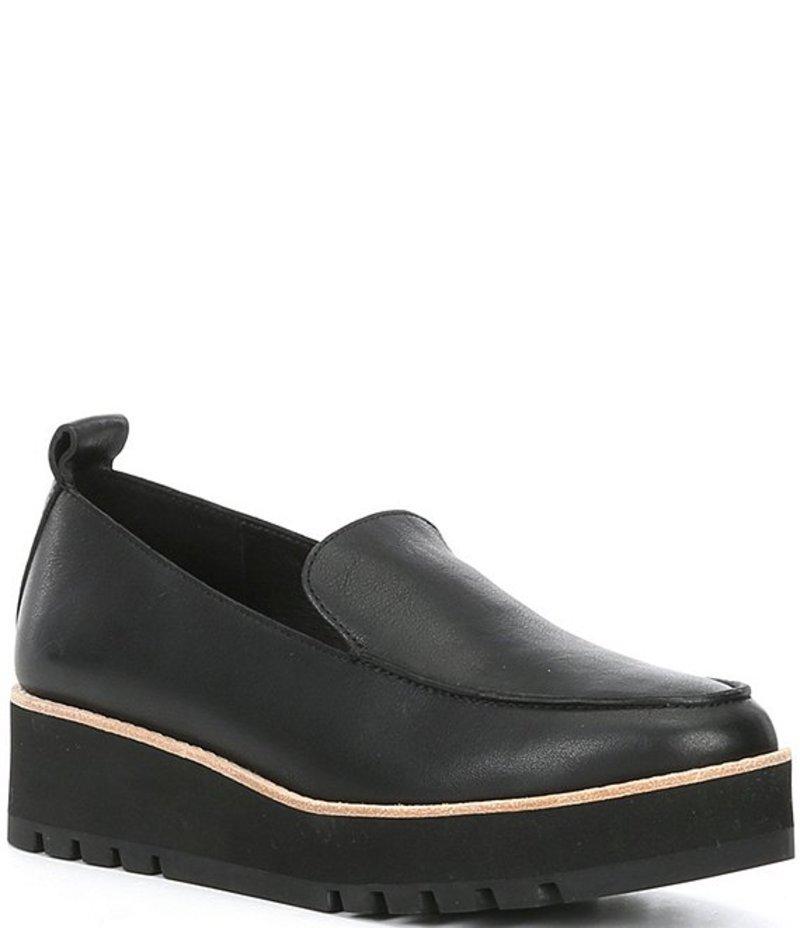 エイリーンフィッシャー レディース スリッポン・ローファー シューズ Ells Leather Loafers Black