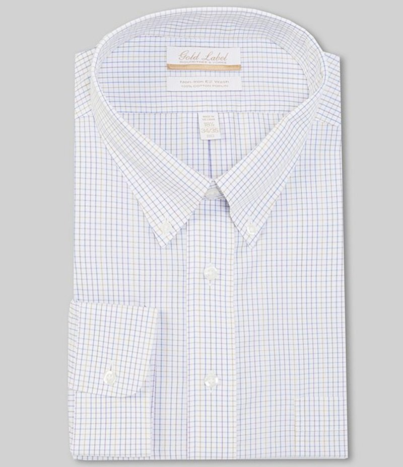 ラウンドトゥリーアンドヨーク メンズ シャツ トップス Gold Label Roundtree & Yorke Big & Tall Non-Iron Button-Down Collar Solid Oxford Dress Shirt Purple Multi